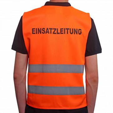 Qualitäts KFZ-Warnweste Premium mit Standardmotiv Einsatzleitung