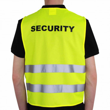 Qualitäts KFZ-Warnweste Premium mit Standardmotiv Security
