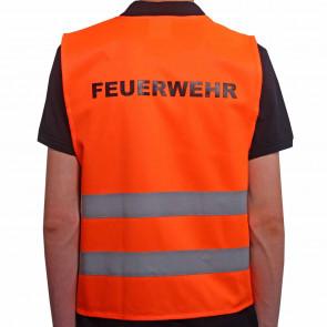 Qualitäts KFZ-Warnweste Premium mit Standardmotiv Feuerwehr